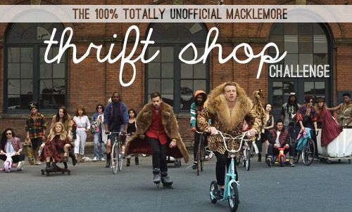 """Thrift shops are awesome!  Here, the bloggers over at Young House Love issued """"The Macklemore Thrift Shop Challenge"""".  Looks like 240 people participated in their challenge!  If you are hip and cool, you will know who Macklemore is!!"""