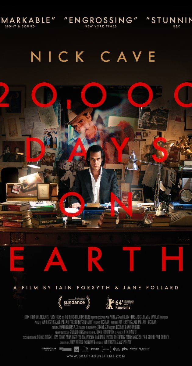Directed by Iain Forsyth, Jane Pollard.  With Nick Cave, Susie Bick, Warren Ellis, Darian Leader. Writer and musician Nick Cave marks his 20,000th day on the planet Earth.
