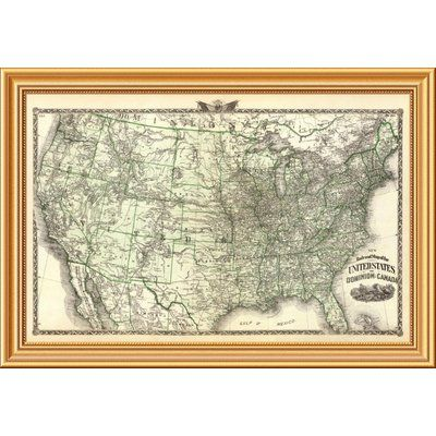 map of the us in 1876
