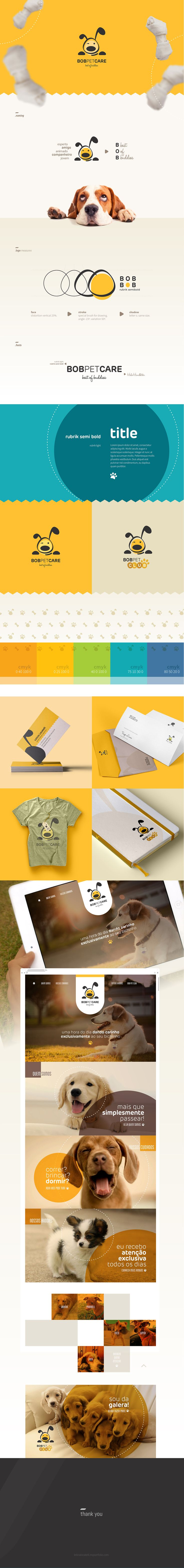 identidade visual Bob Pet Care on Behance