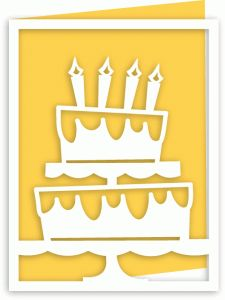 Silhouette Design Store - View Design #59011: a2 birthday cake cutout card