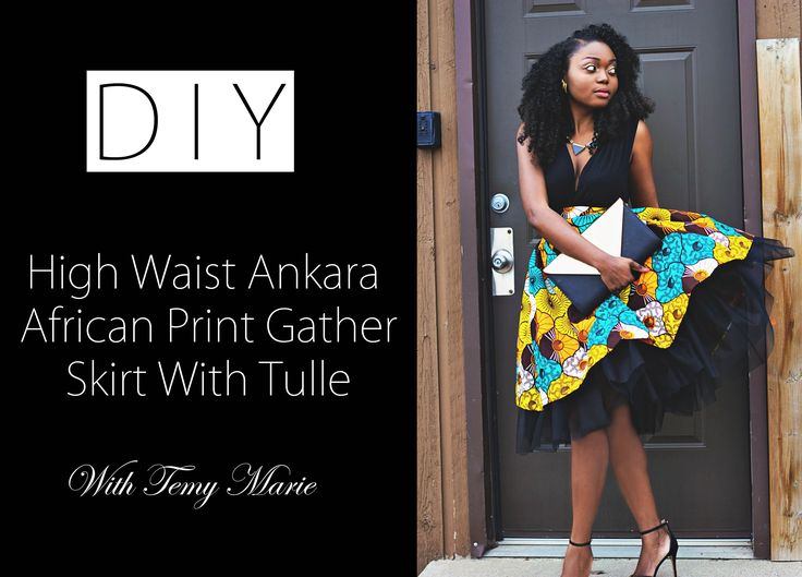 I demonstrated how to make a high waist gather skirt made out of an ankara african print fabric and a tulle fabric. It is a very easy fashion diy project and...