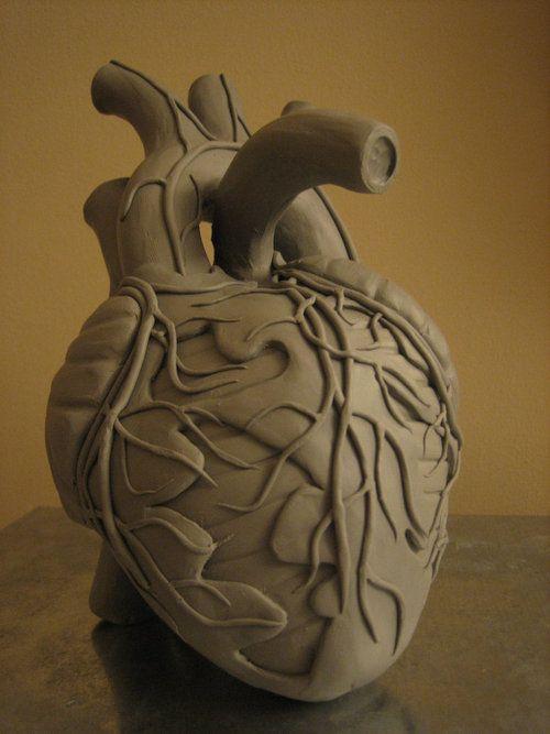 human heart art - wow this is a beautiful handbuilt piece