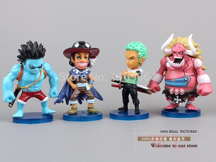 Anime One Piece Luffy Zoro Usopp Sanji Perona Little Oz Junior Q Version Mini PVC Action Figures  Christmas Gifts Classic Toys