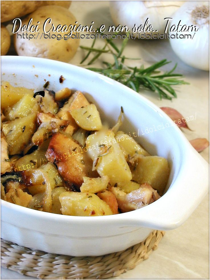 Pollo con patate e cipolle al forno | ricetta piatto unico