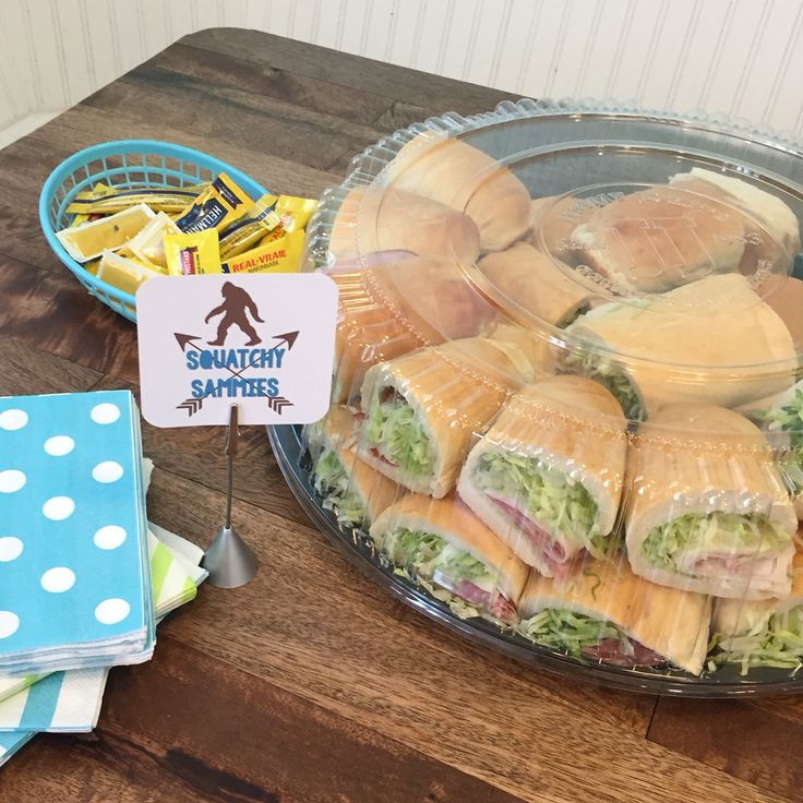 Sasquatch Sammies (Jimmy Johns, heh) for Bigfoot-themed party food!