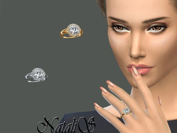 The Sims Resource: Double halo daimond ring by NataliS • Sims 4 Downloads