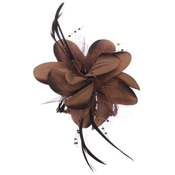 Flower Hair Ornament - Brown