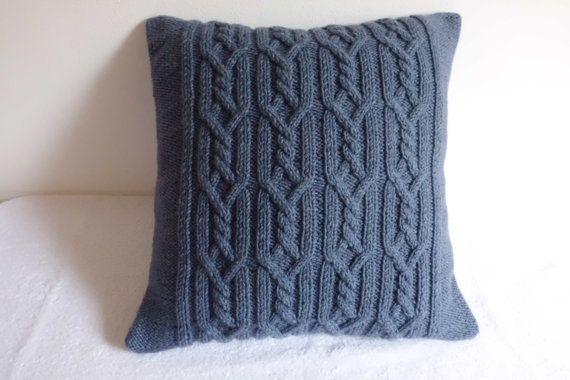 Cable Knit dekorative stahlblau Kissen blau grau Wurfkissen