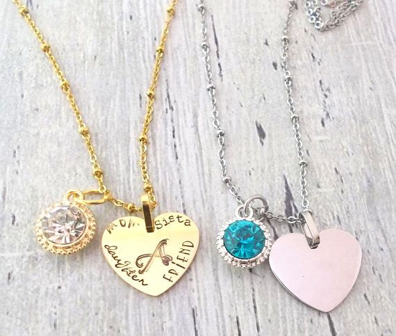 Hey, I found this really awesome Etsy listing at https://www.etsy.com/listing/484242177/heart-necklace-personalized-heart
