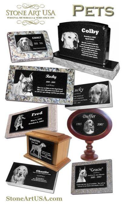 StoneArtUSA.com ~ custom Pet Memorials, Urns & more.  Quality & affordability since 1999.