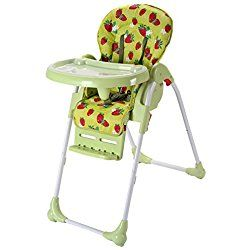 Costzon Adjustable Baby High Chair Infant Toddler Feeding Booster Seat Folding (Green)
