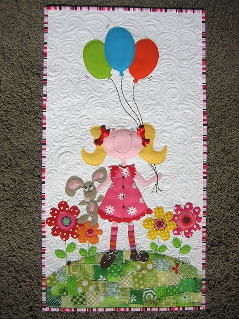 adorable little quilt: Pictures Quilts, Little Girls, Applique Quilts, Girls Generation, Baby Quilts, Adorable Quilts, Baby Girls, Beautiful Birds, Sweet Girls