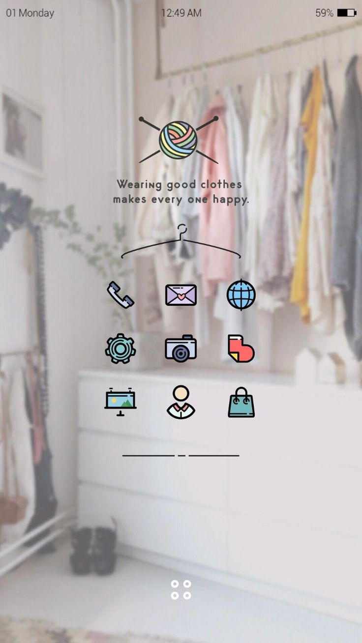 [Homepack Buzz] Check out this awesome homescreen! jiny Closet concept.     enjoy colorful icons :)