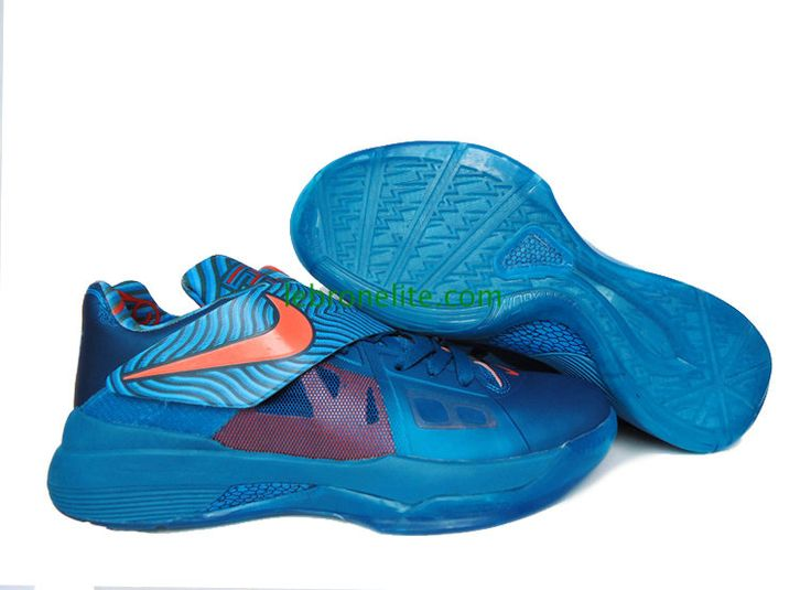 New Kevin Durant shoes KD IV Year of the Dragon Green Abyss Dark Mango  Current Blue 473679 300