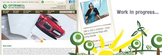 Cottong Bag Company - Website design Bath