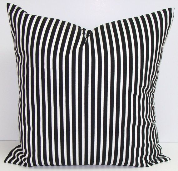 BLACK Pillow Covers Sale 18x18 16x16 or 12x16 by ElemenOPillows
