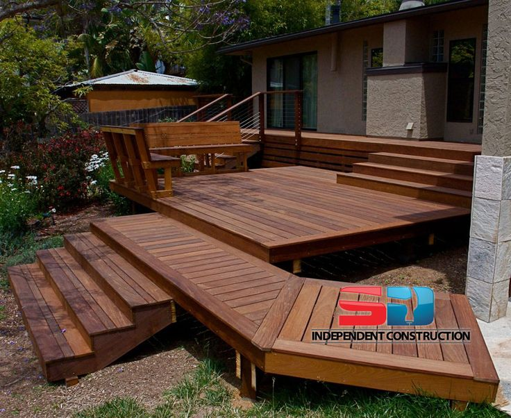 Multi Level Ipe Deck Stairs And Seating San Diego