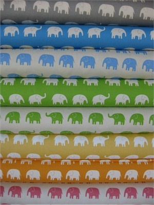 Elephant fabric. Love this! When I have children, I will find a use for this!