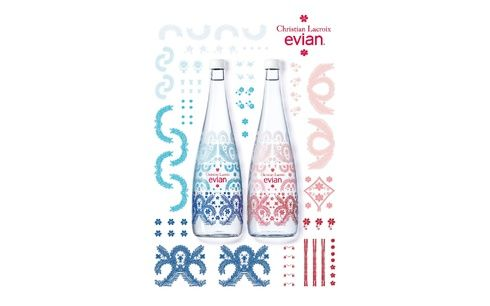 「エビアン」デザイナーズボトル10周年のコラボはクリスチャン・ラクロワ!