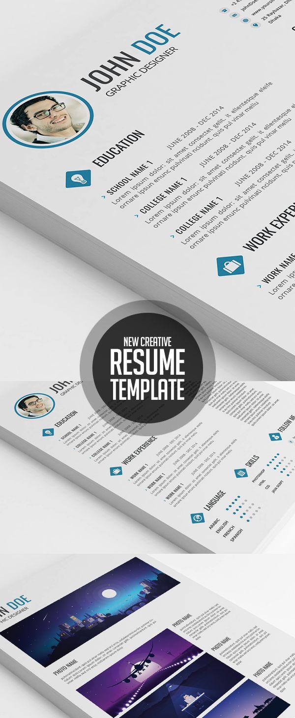 Best Graphic Design Images On   Resume Design