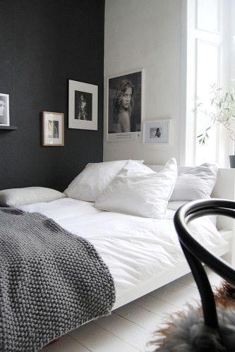 Bed   whitegrey
