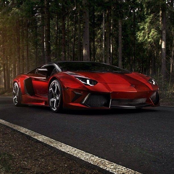 Wild Lamborghini Aventador Love this red on the lambo