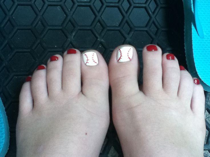 My baseball toe nails - Best 25+ Baseball Toes Ideas On Pinterest Baseball Nail Designs