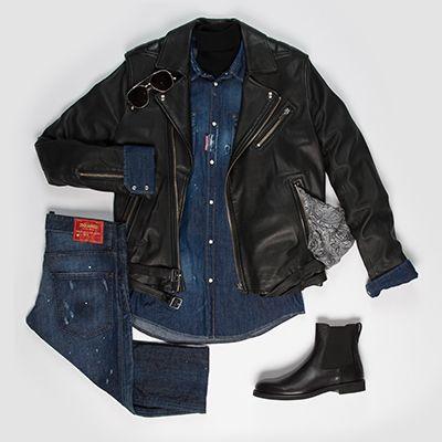 Veste #IRO Chemise et jean #Dsquared2 Boots #Tods Lunettes  #LindaFaroow Foulard #GoldenGoose