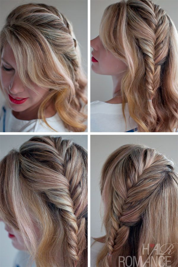 Braid Waterfall How to Do a Messy Bun | Romantic Messy Side French Fishtail Braid / Hair Romance Latest ...