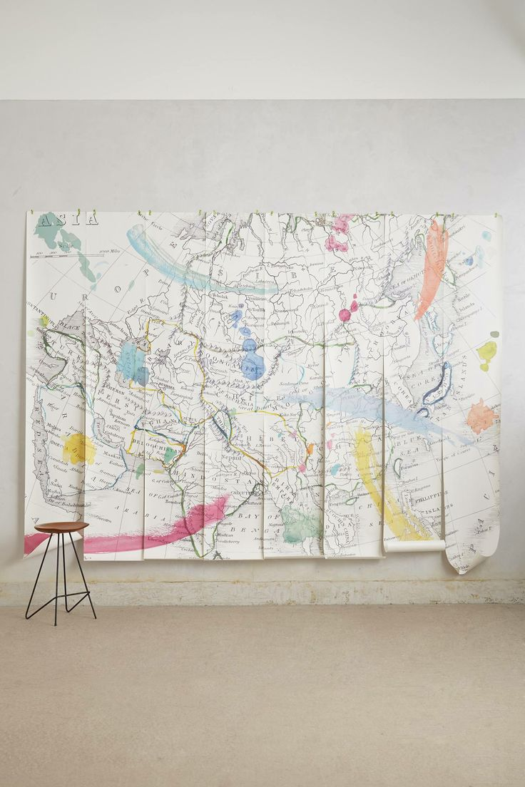 Tradewinds wall mural your anthropologie favorites for Anthropologie wallpaper mural