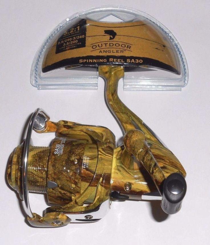 Outdoor angler camo fishing reel sa30 5 2 1 graphite for Camo fishing pole