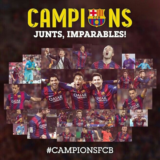 El Barça, justo campeón de la liga 2014/15