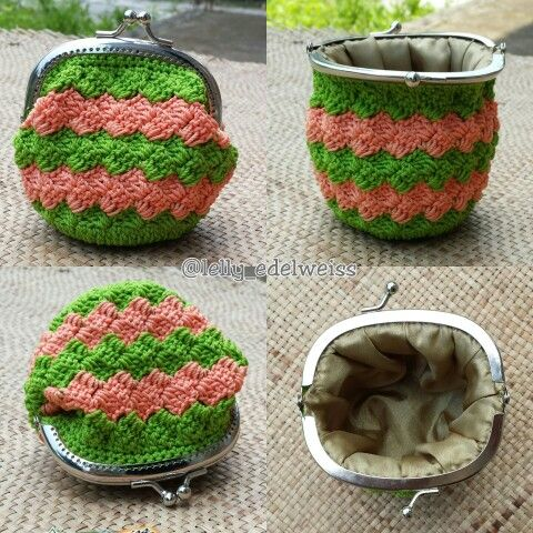 Crochet frame purse handmade