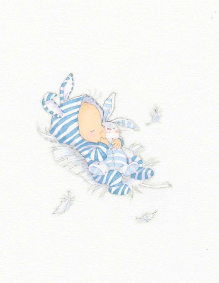 Stripey baby by Annabel Spenceley