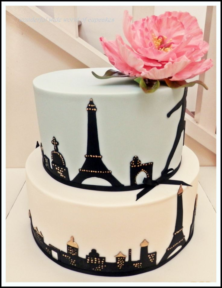 - A Paris themed cake made for a beautiful friends birthday celebrations.