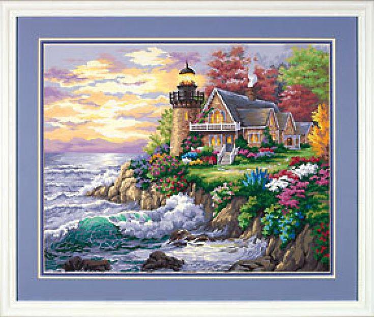 Cottage Lighthouse - 1/7 Solo Patrones Punto Cruz (pág. 263)   Aprender manualidades es facilisimo.com