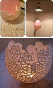 28 DIY Centerpieces With Lace And Candle