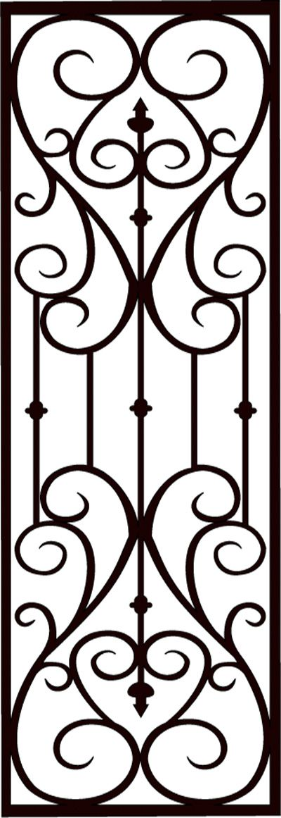 Faux Wrought Iron Screen