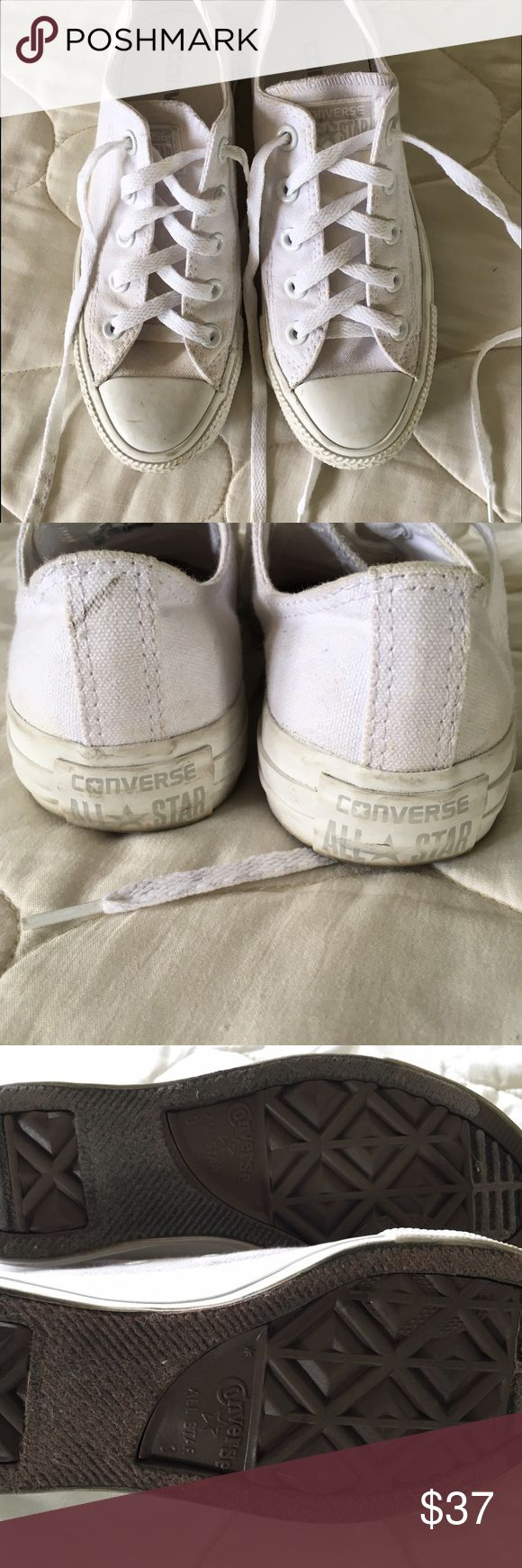 All White Converse - Men's 3 (sizes run big)  I answer questions as soon as possible SMOKE FREE HOME PET FREE HOME  Check out my other items! Bundle For DISCOUNTS  **no more holds  BUY BEFORE SOMEONE ELSE DOES! - i am not cancelling if someone buys before you do Converse Shoes Sneakers