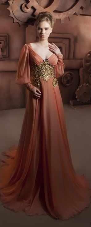 Hassan Mazeh evening dress    This just looks regal but it's rather low