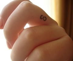 put a tiny 8-29-09 on my ring finger...
