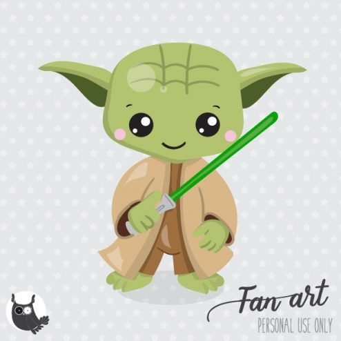 Yoda Freebie - Prettygrafik Store | Clip art freebies ...