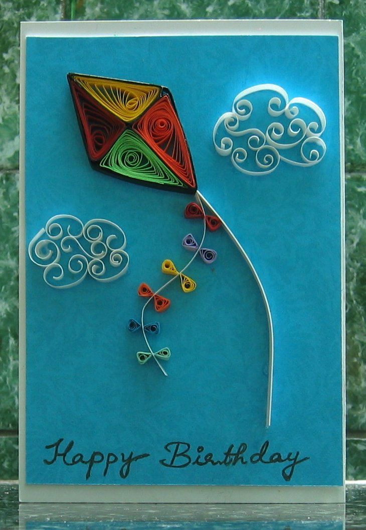 Happy Birthday Paper Quilled Card