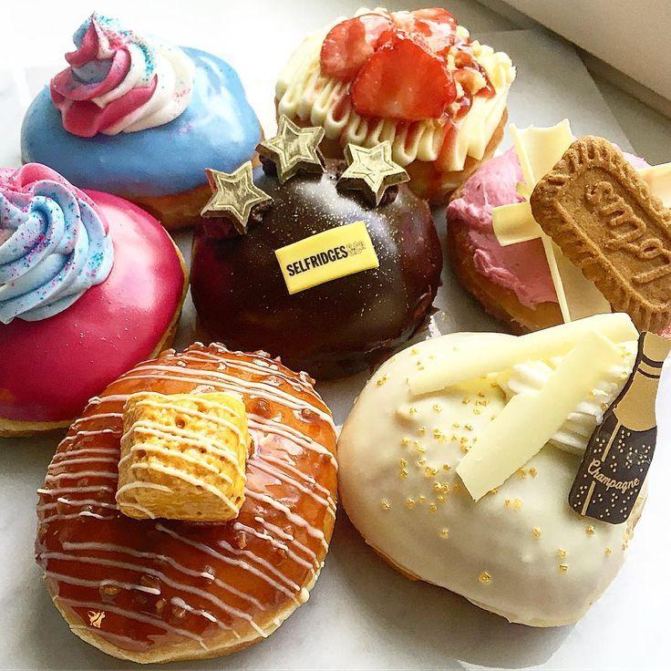 UK (Selfridges Exclusive) — Unicorn, Champagne, Strawberry Biscuit, Salted Caramel | International Krispy Kreme Doughnuts | POPSUGAR Food