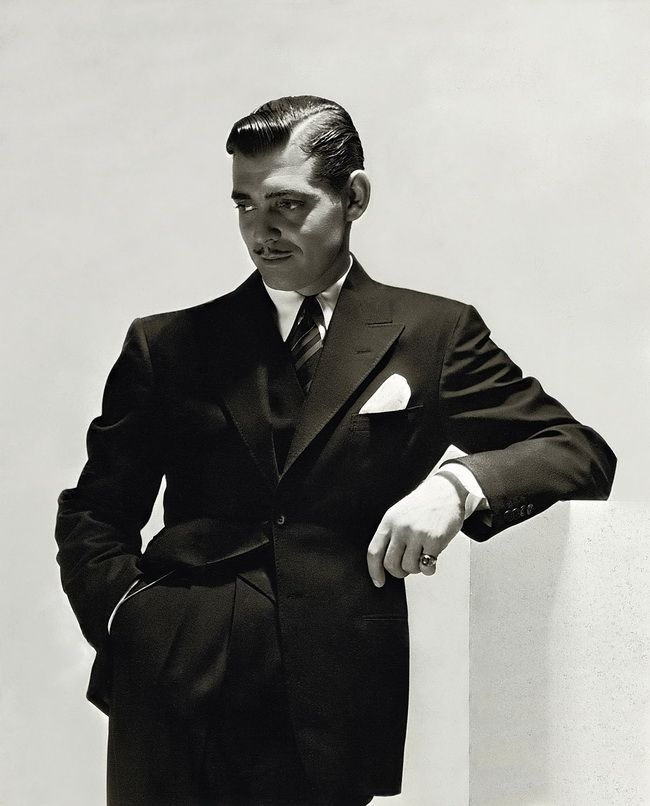 Clark Gable...his Rhett Butler in Gone With the Wind was the epitome of leading man in his day.
