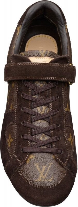 Louis Vuitton Men's Globe-Trotter sneaker in Monogram Canvas & Suede  PRODUCT ID YQ4U2PMO  CACAO  $480.00