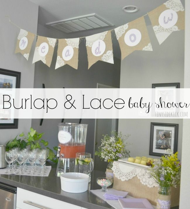 Burlap and Lace Baby Shower | Rustic Baby Shower | Vegetarian Menu
