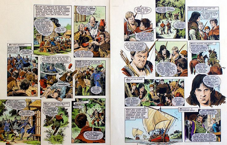 Robin of Sherwood - Drink and Taxes (TWO pages) (Originals) art by Robin of Sherwood (Mike Noble)