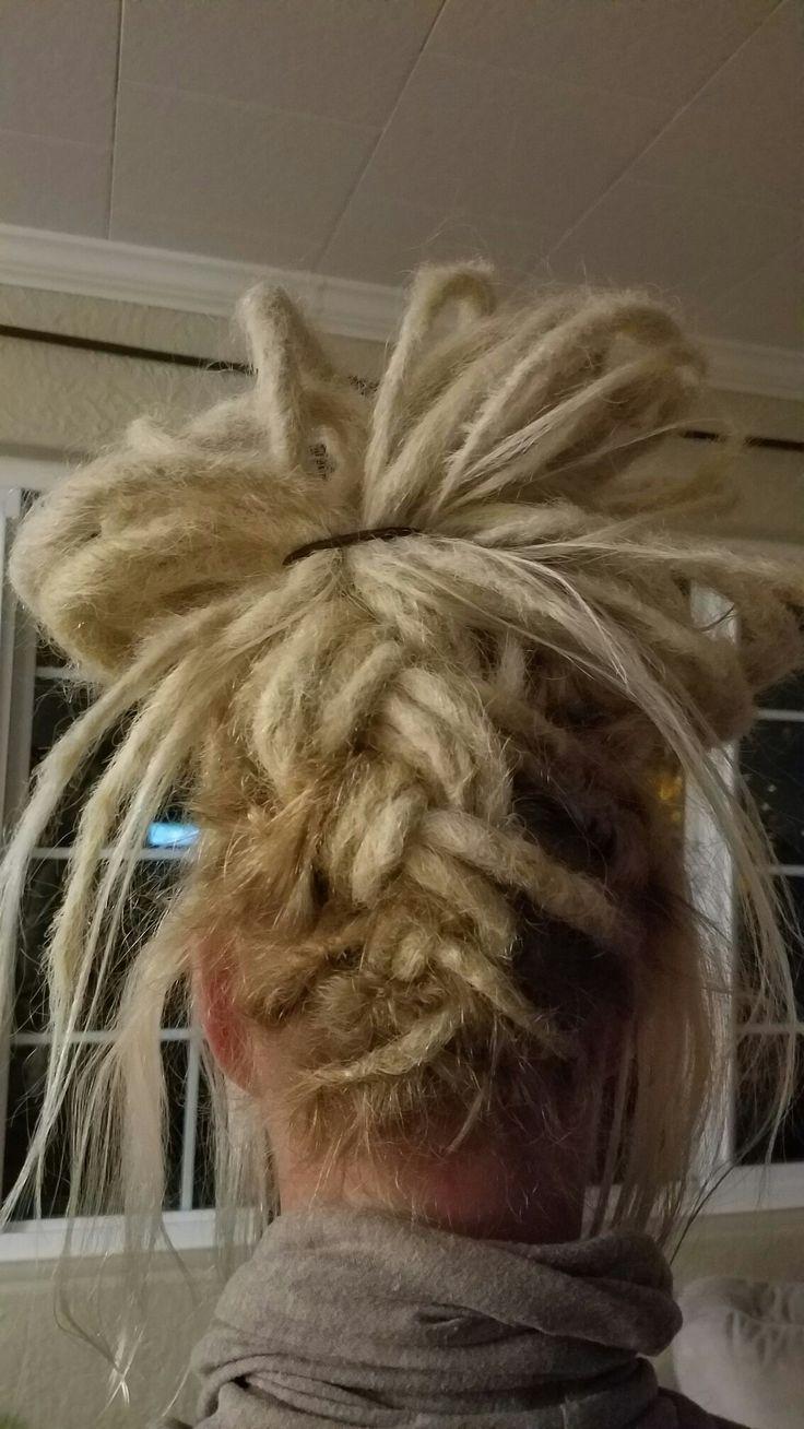 Dreadlocks braided updo